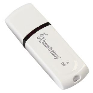 USB Flash диски USB 2.0 8Gb Smart Buy Paean White
